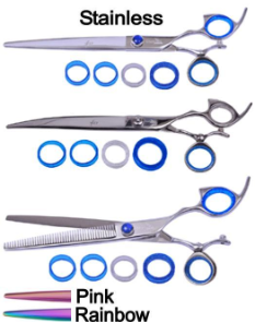 Shark Fin Platinum Line Swivel Thumb Grooming Shears