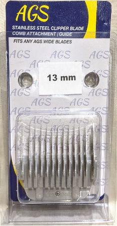 "AGS 1/2"" Detachable Stainless Steel Comb for Wide Blades"