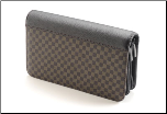 Double Zipper Brown Checkered Shear Case