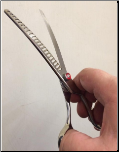 Precise Cut Curved Grooming Chunking Shear