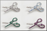 Jeweled Scissor Pin