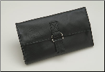 Shisato Black Leather Tri-Fold Shear Case
