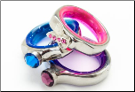 Customizable Scissor Charm Ring