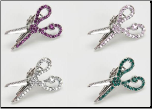 Jeweled Scissor Hair Clip