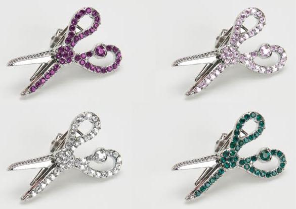 Jeweled Scissor Hair Clip